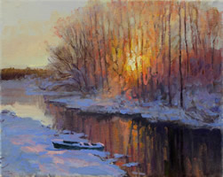 winter evening on the river